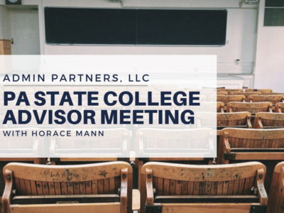 ADMIN PARTNERS @ THE PA STATE COLLEGE ADVISOR MEETING