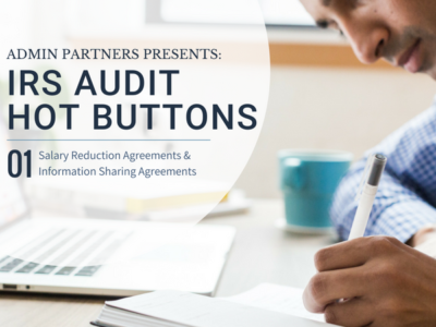 IRS AUDIT HOT BUTTONS: PART ONE